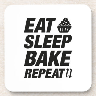Eat Sleep Bake Repeat Coaster