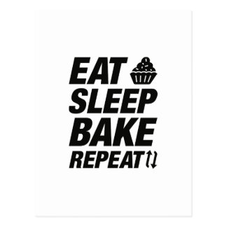 Eat Sleep Bake Repeat Postcard