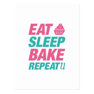 Eat Sleep Bake Repeat Postcard