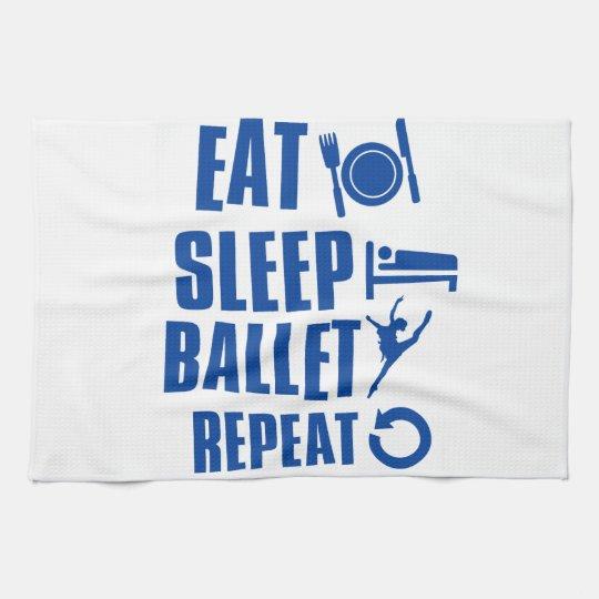 Eat sleep ballet hand towels