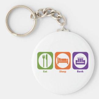 Eat Sleep Bank Keychain