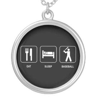 Eat Sleep Baseball Necklace