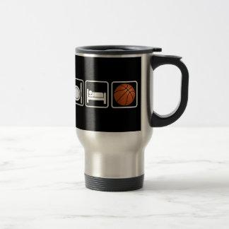 Eat, Sleep, Basketball 15 Oz Stainless Steel Travel Mug