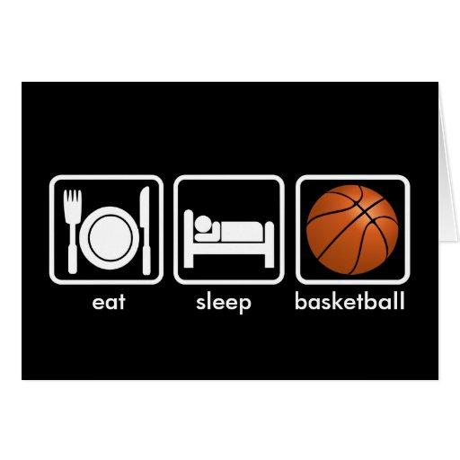 Eat, Sleep, Basketball Card