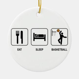Eat Sleep Basketball Ornament