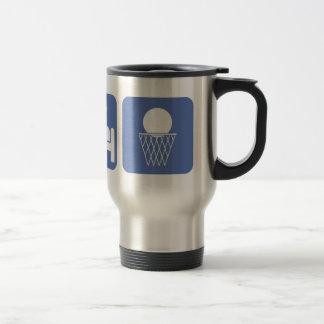 eat sleep basketball travel mug