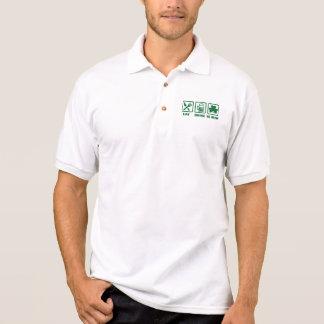 Eat sleep be irish polo shirt