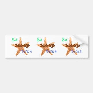 Eat Sleep Beach - Bumper Sticker