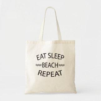 Eat Sleep Beach Repeat Summer Beach Tote