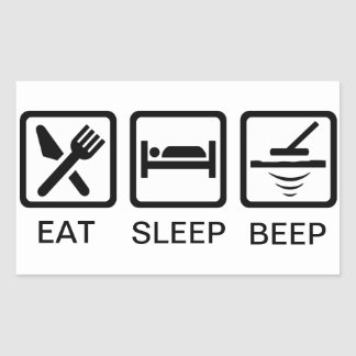 EAT-SLEEP-BEEP metal detecting decal Sticker