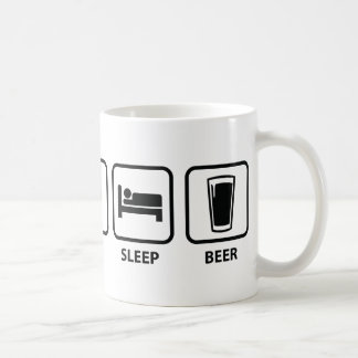 Eat Sleep Beer Coffee Mug