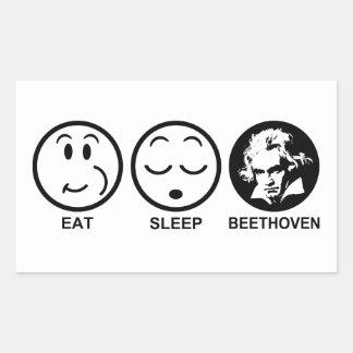 Eat Sleep Beethoven Sticker