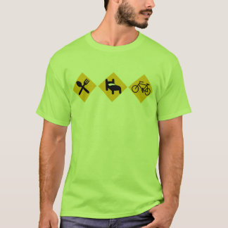 Eat Sleep Bicycle Road Signs T-Shirt