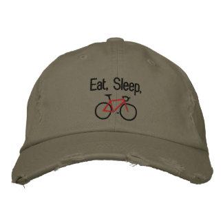 Eat, Sleep, Bike Embroidered Baseball Cap