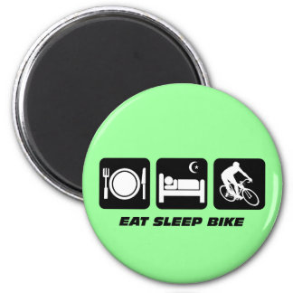 Eat sleep bike magnet