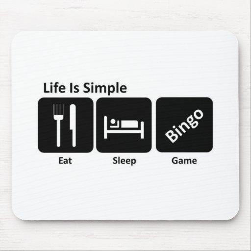 Eat sleep Bingo Mousepad