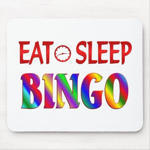 Eat Sleep Bingo Mousepads