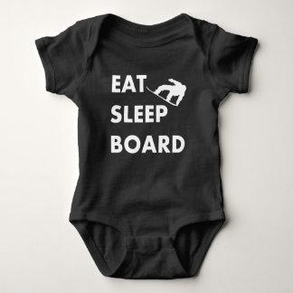 Eat Sleep Board Snowboarding Baby Bodysuit