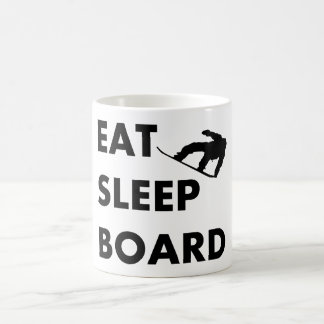 Eat Sleep Board Snowboarding Coffee Mug