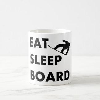 Eat Sleep Board Snowboarding Coffee Mug