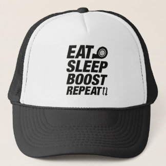 Eat Sleep Boost Repeat Trucker Hat