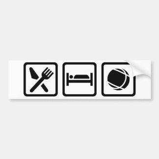 Eat sleep Boule Bumper Sticker