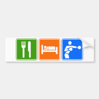 Eat Sleep Boxing Bumper Sticker