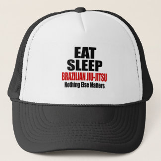 EAT SLEEP BRAZILIAN JIU-JITSU TRUCKER HAT