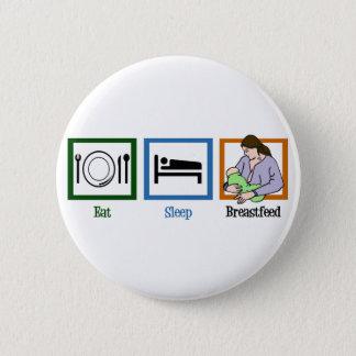 Eat Sleep Breastfeed 2 Inch Round Button