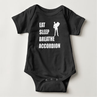 Eat Sleep Breathe Accordion Baby Bodysuit