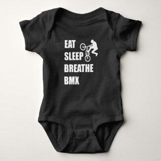 Eat Sleep Breathe BMX Baby Bodysuit
