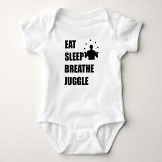 Eat Sleep Breathe Juggle Baby Bodysuit