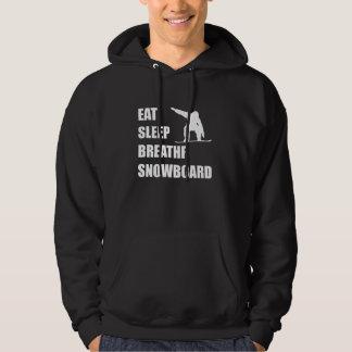 Eat Sleep Breathe Snowboard Hoodie