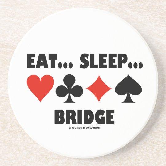 Eat... Sleep... Bridge (Bridge Humour Card Suits) Coaster