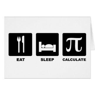 Eat Sleep Calculate Card