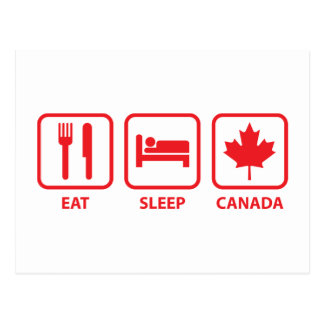 Eat Sleep Canada Postcard