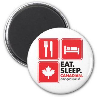 Eat Sleep Canadian Magnet
