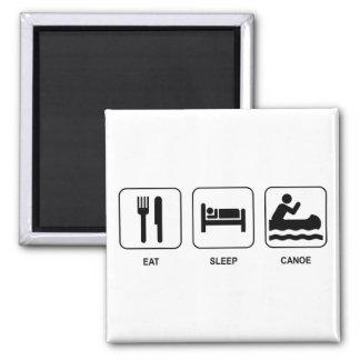 Eat Sleep Canoe Magnet