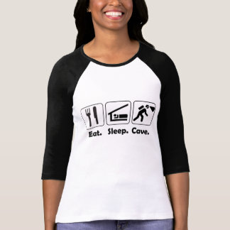Eat Sleep Cave Retro 3/4 Sleeve Caving Shirt