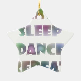 eat sleep ceramic ornament