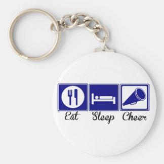 Eat, Sleep, Cheer Basic Round Button Keychain