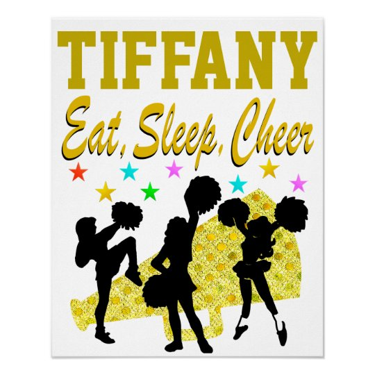 EAT, SLEEP, CHEER PERSONALIZED CHEERLEADING POSTER