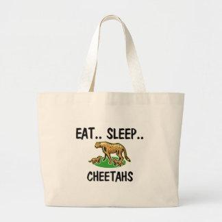 Eat Sleep CHEETAHS Large Tote Bag