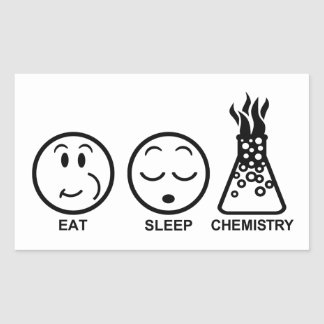 Eat Sleep Chemistry Sticker