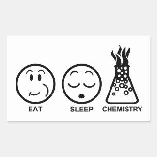 Eat Sleep Chemistry Sticker