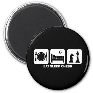 eat sleep chess 2 inch round magnet