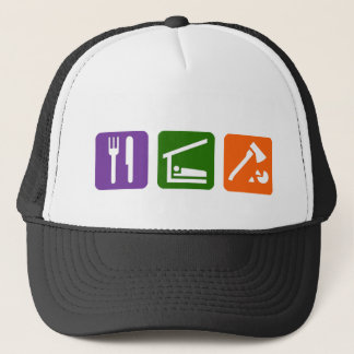 Eat Sleep Chopping Wood Trucker Hat