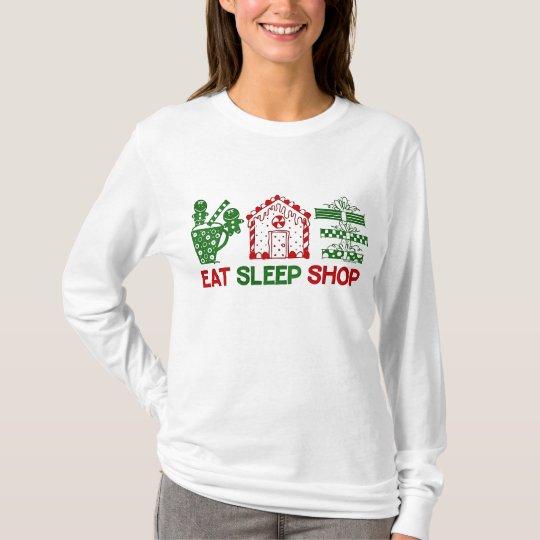 Eat Sleep Christmas Shop T-Shirt