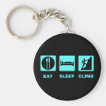 Eat Sleep Climb T-shirt and gift design Basic Round Button Keychain