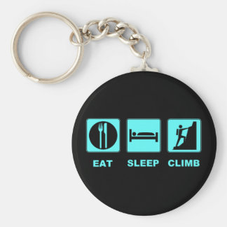 Eat Sleep Climb T-shirt and gift design Keychain